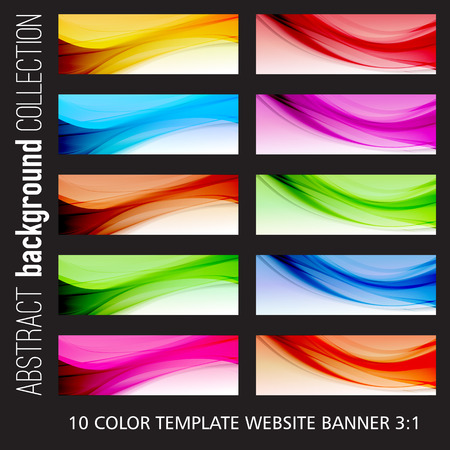 web banner: Abstract colorful template vector background. Brochure design. Collection web banner