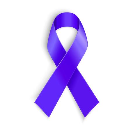 Paars lint. Symbool van algemene kankervoorlichting Lupus bewustzijn overdosis drugs huiselijk geweld de ziekte van Alzheimer Stock Illustratie
