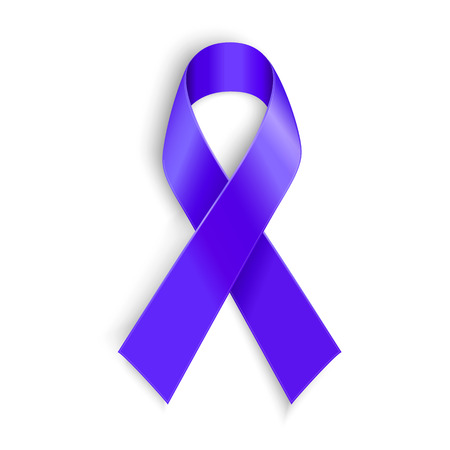 pancreatic: Purple ribbon. Symbol of general cancer awareness Lupus awareness drug overdose domestic violence Alzheimer disease
