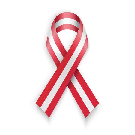 austrian: Flag of Austria. Austrian ribbons isolated on white vector illustration Illustration