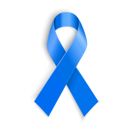 Blue ribbon. Peace dysautonomia and other awareness symbol. Vector illustration