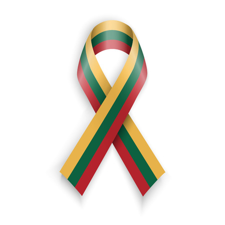 lithuania flag: Lithuania Flag.  Abstract lithuanian ribbons isolated on white vector illustration