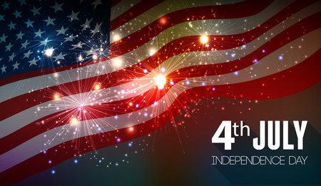 usa patriotic: Fireworks background for 4th of July Independense Day