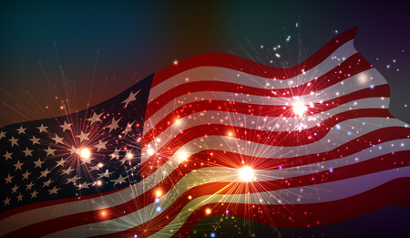 forth: Fireworks background for 4th of July Independense Day