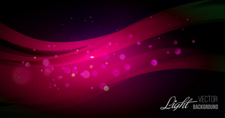 Abstract background with shiny wave and bokeh light. Vector illustration. Glitter abstract