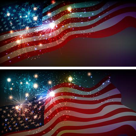 Feuerwerk Hintergrund für Juli 4. Independense Day Standard-Bild - 41927197