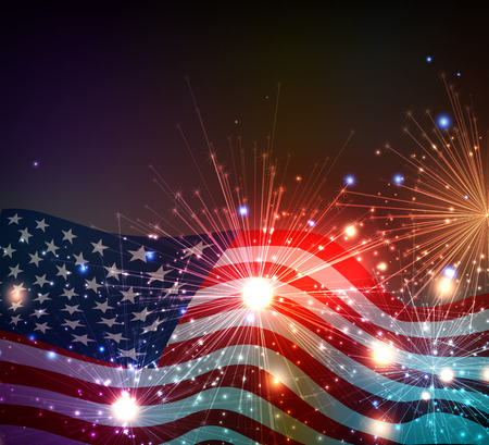 patriotic: Fireworks background for 4th of July Independense Day