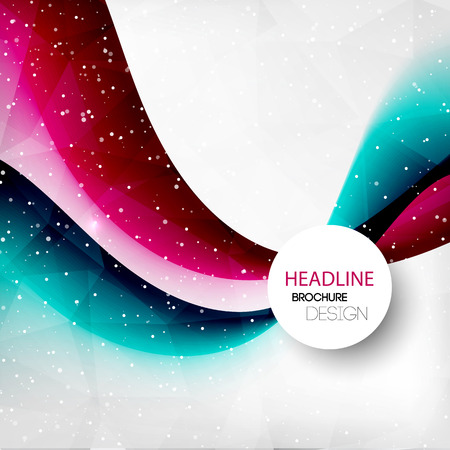 layout design template: Vector Abstract curved lines background. Template brochure design