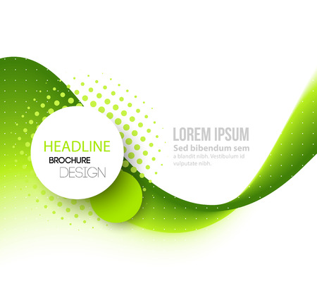 curved lines: Vector Abstract green curved lines background. Template brochure design