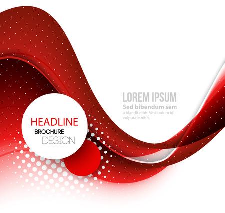 rot: Vector Abstract red geschwungene Linien Hintergrund. Vorlage Broschüre Design Illustration