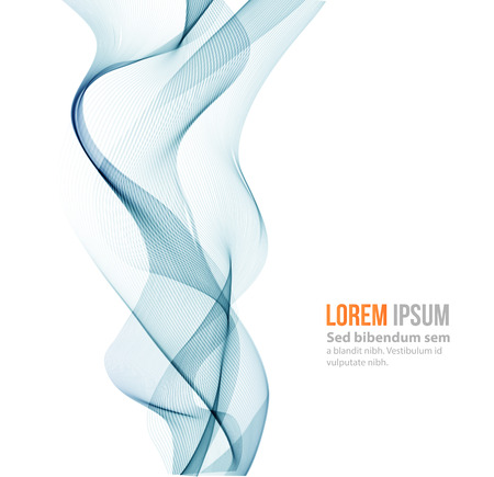 Vector Abstract color curved lines background. Template brochure design. Smoke lines