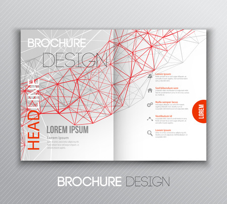 Vector illustration Abstract template brochure design with geometric background Vettoriali