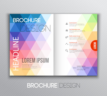Vector illustration Abstract template brochure design with geometric background 일러스트