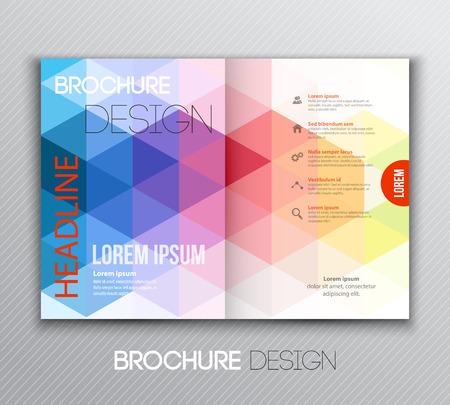geometric background: Ilustraci�n vectorial dise�o de folletos Resumen plantilla con fondo geom�trico