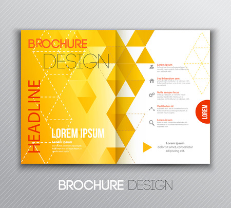 Vector illustration Abstract template brochure design with geometric background Vectores