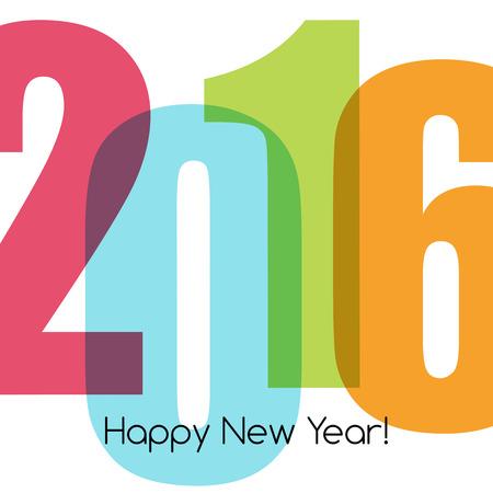 nombres: Bonne nouvelle salutation de l'ann�e avec le num�ro 2016. Vector illustration