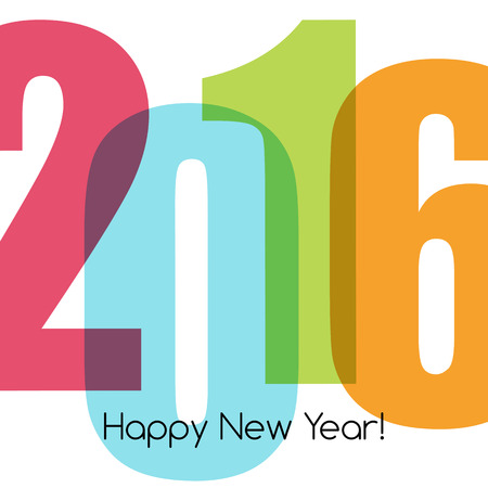 numbers abstract: Happy new year greeting with number 2016.  Vector illustration Illustration