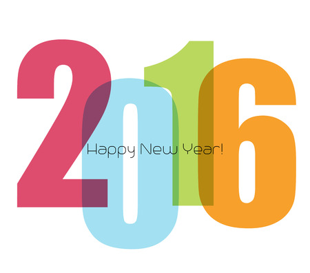 wish of happy holidays: Happy new year greeting with number 2016.  Vector illustration Illustration