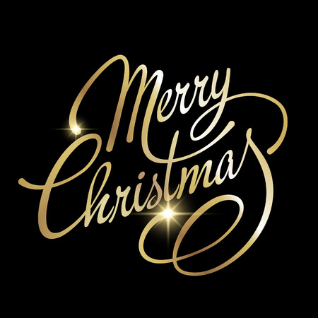 natale: Merry Christmas Lettering design. Illustrazione vettoriale. EPS 10 Vettoriali