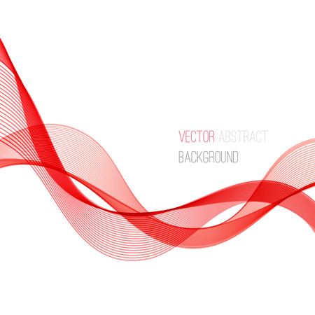 Red Smooth wave stream line abstract header layout. Vector illustration