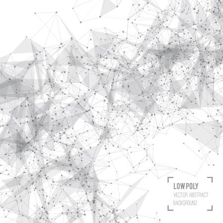 to polygons: Fondo abstracto del acoplamiento con círculos, líneas y formas. Diseño futurista