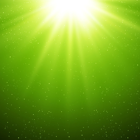 miracle: Vector  illustration Abstract green magic light background
