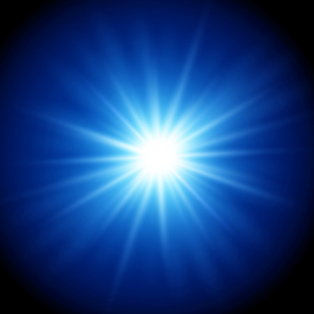 color design: Vector  illustration Abstract magic light background. Blue color design with a burst