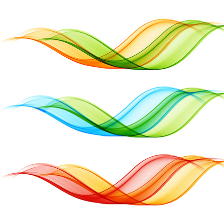 wave backdrop: Set of vector transparent wave design element.