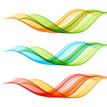 yellow orange: Set of vector transparent wave design element.