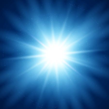 blue design: Vector  illustration Abstract magic light background. Blue color design with a burst
