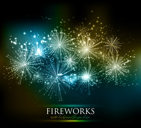 new year: Vector abstract Holiday Fireworks Background for your design Illustration