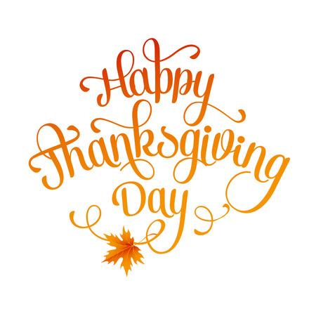 tipos de letras: Letras de Acción de Gracias feliz. Vector de fondo.