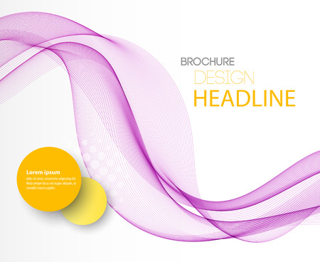 elegant white: Vector Abstract purple curved lines background. Template brochure design