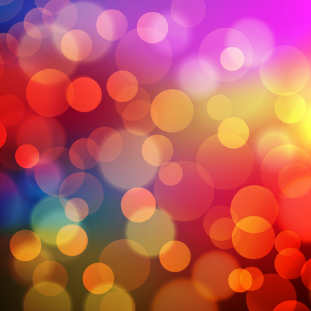 Abstract Golden Holiday Background bokeh effect. Vector illustration. Vectores