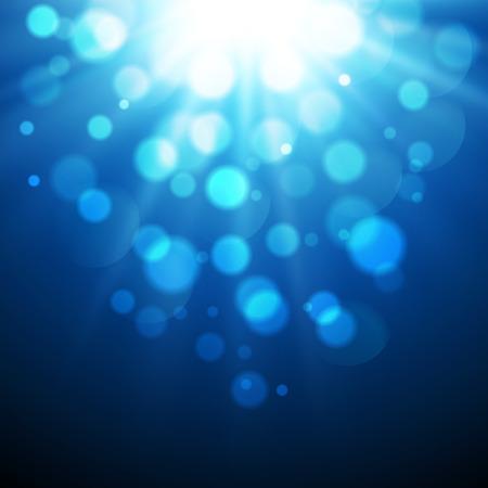 ベクトル図抽象 agic 光と青色の背景ボケ  イラスト・ベクター素材