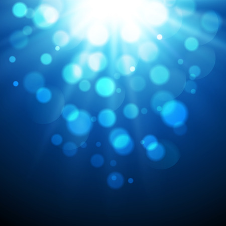 backgrounds texture: Vector  illustration Abstract blue agic light background with bokeh effect