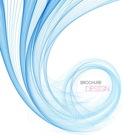 blue lines: Vector smooth Blue Transparent abstract waves For cover book, brochure, flyer, poster, magazine, website, annual report Illustration
