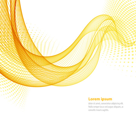 Vector lisses jaunes vagues abstraites transparent pour livre à couverture, brochure, flyer, affiche, magazine, site web, rapport annuel