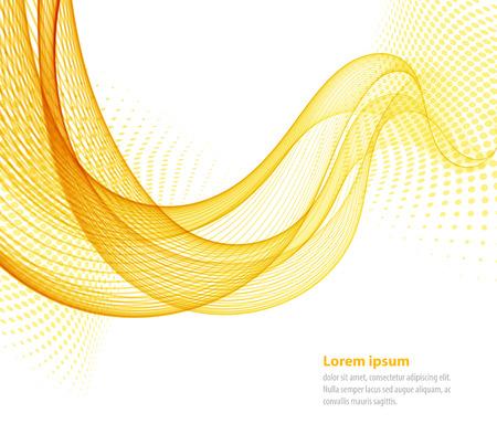 vague: Vector lisses jaunes vagues abstraites transparent pour livre à couverture, brochure, flyer, affiche, magazine, site web, rapport annuel