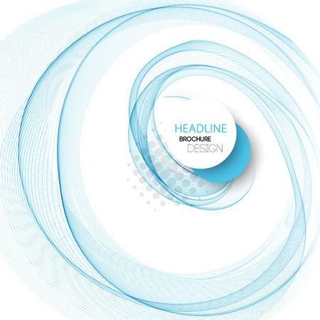 表紙、パンフレット、チラシ、ポスター、雑誌、ウェブサイト、年次報告書のベクトル滑らかな青い透明な抽象の波  イラスト・ベクター素材