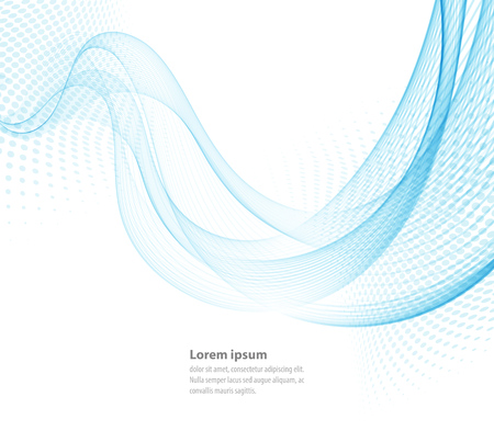 Vector smooth Blue Transparent abstract waves For cover book, brochure, flyer, poster, magazine, website, annual report Иллюстрация