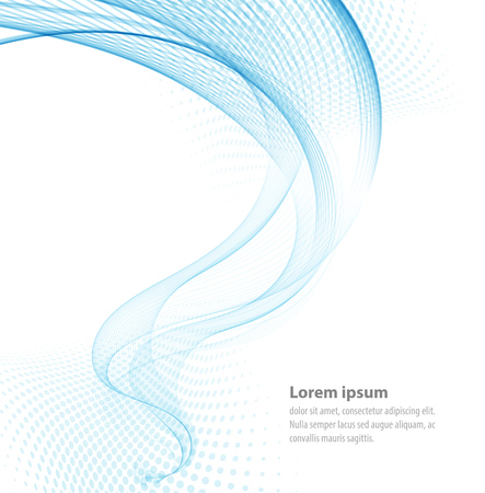 Vector smooth Blue Transparent abstract waves For cover book, brochure, flyer, poster, magazine, website, annual report Illustration