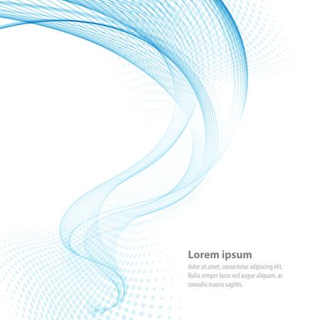 Vector liscio trasparente blu onde astratto per copertina del libro, brochure, flyer, poster, rivista, sito web, relazione annuale Vettoriali