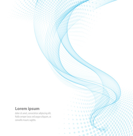 Vector smooth Blue Transparent abstract waves For cover book, brochure, flyer, poster, magazine, website, annual report  イラスト・ベクター素材