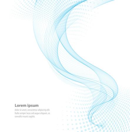 Vector glatte Blau Transparent abstrakte Wellen Für Abdeckung Buch, Broschüre, Flyer, Poster, Magazin, Website, Jahresbericht Vektorgrafik