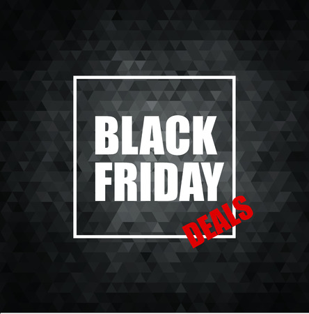 red banner: Black Friday Sale Abstract Vector Illustration. Geometric background