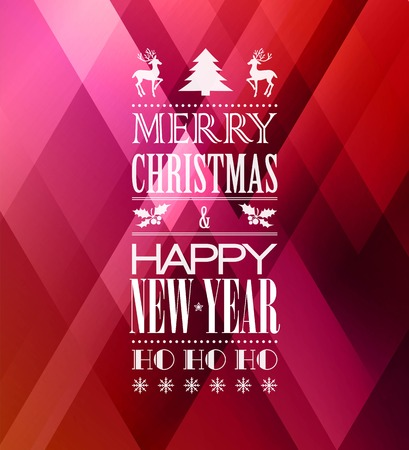 merry: Merry christmas typography poster with christmas tree
