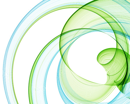 green swirl: Abstract blue and green lines. Illustration