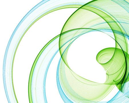 verde: Azul abstracta y las líneas verdes.