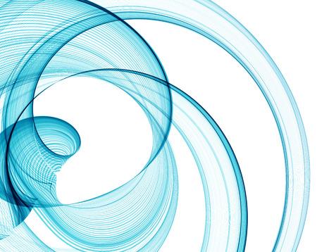 swirls: Abstract blue fractal lines. Illustration